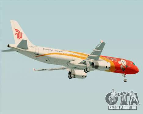 Airbus A321-200 Air China (Beautiful Sichuan) para GTA San Andreas vista traseira