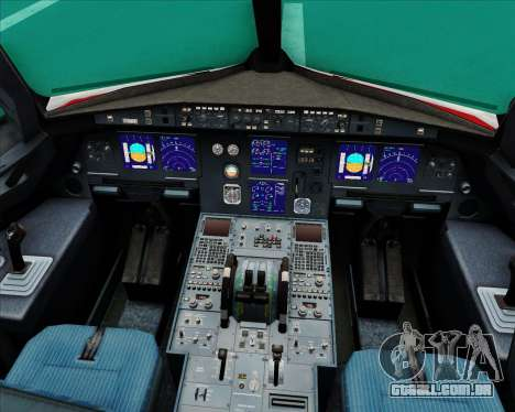 Airbus A321-200 Continental Airlines para GTA San Andreas interior