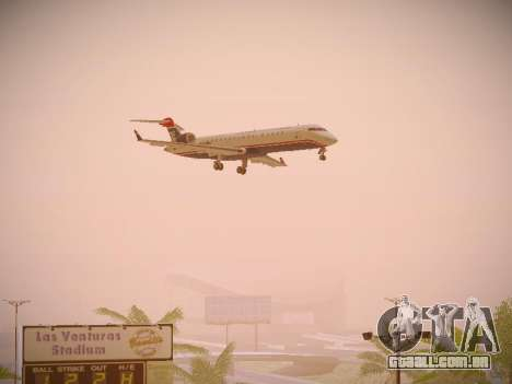 Bombardier CRJ-700 US Airways Express para GTA San Andreas vista traseira
