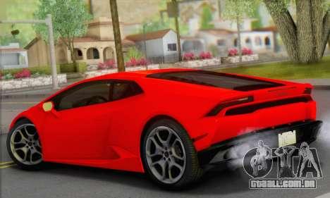 Lamborghini Huracan 2014 Type 2 para GTA San Andreas esquerda vista
