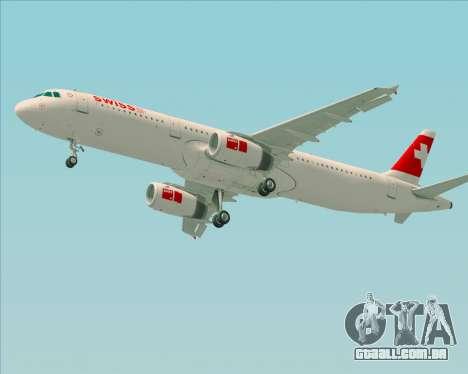 Airbus A321-200 Swiss International Air Lines para GTA San Andreas vista inferior