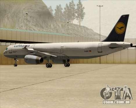 Airbus A321-200 Lufthansa para as rodas de GTA San Andreas