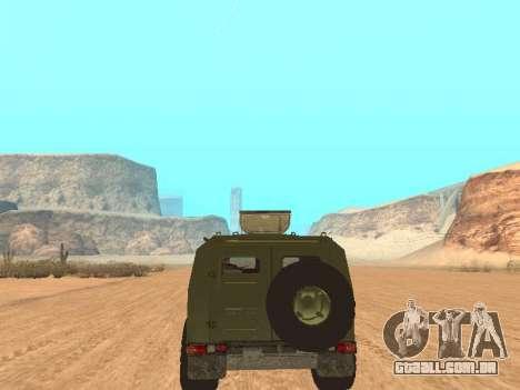 GAZ 2975 para GTA San Andreas vista traseira