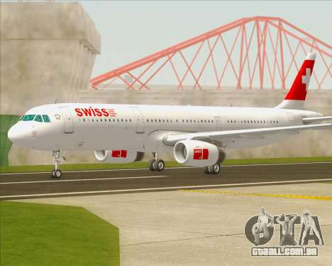 Airbus A321-200 Swiss International Air Lines para GTA San Andreas esquerda vista