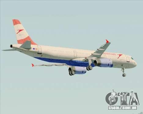 Airbus A321-200 Austrian Airlines para o motor de GTA San Andreas