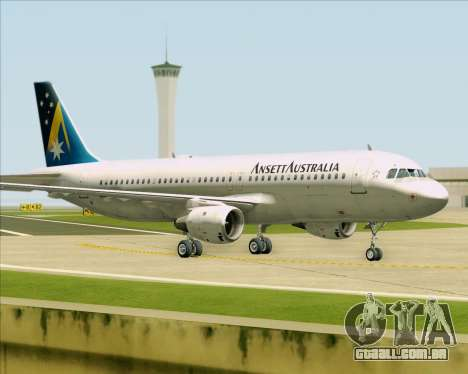 Airbus A320-200 Ansett Australia para GTA San Andreas esquerda vista