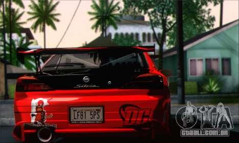 Nissan Silvia S15 Team Drift Monkey para GTA San Andreas esquerda vista