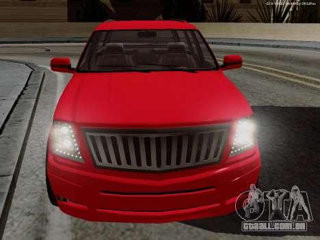 Albany Cavalcade para GTA San Andreas traseira esquerda vista