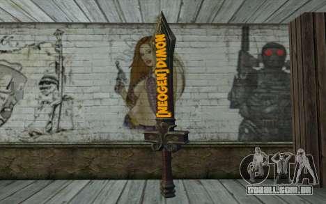 Sword from World of Warcraft para GTA San Andreas segunda tela