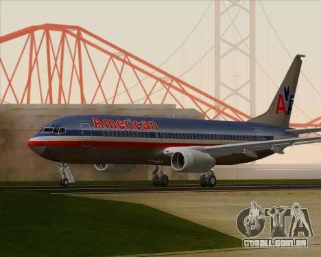 Boeing 737-800 American Airlines para GTA San Andreas vista direita