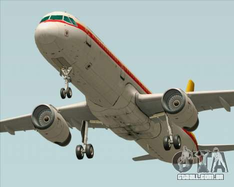 Airbus A321-200 Continental Airlines para GTA San Andreas vista traseira