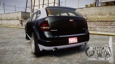 GTA V Vapid Radius para GTA 4 traseira esquerda vista