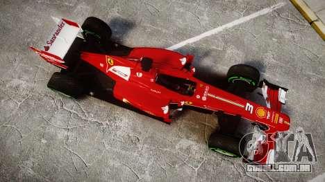 Ferrari F138 v2.0 [RIV] Alonso TIW para GTA 4 vista direita