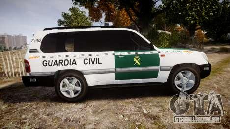 Toyota Land Cruiser Guardia Civil Cops [ELS] para GTA 4 esquerda vista