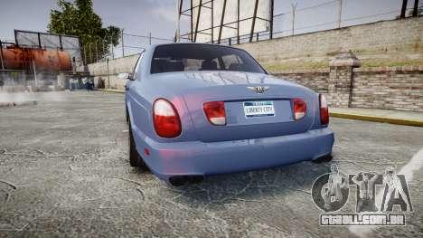Bentley Arnage T 2005 Rims2 Black para GTA 4 traseira esquerda vista