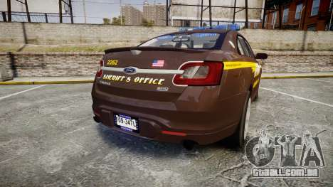 Ford Taurus Sheriff [ELS] Virginia para GTA 4 traseira esquerda vista