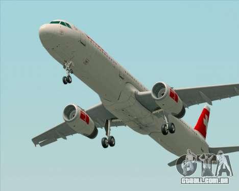 Airbus A321-200 Swiss International Air Lines para GTA San Andreas traseira esquerda vista