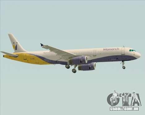 Airbus A321-200 Monarch Airlines para GTA San Andreas vista direita