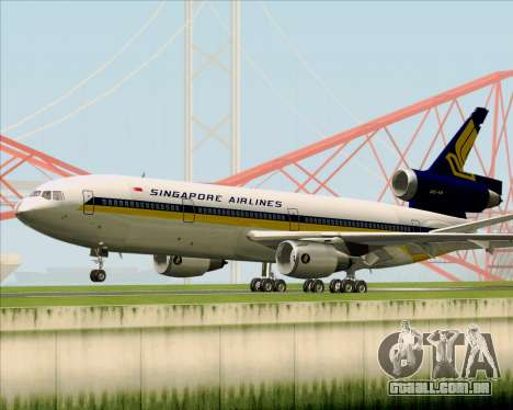 McDonnell Douglas DC-10-30 Singapore Airlines para GTA San Andreas vista traseira