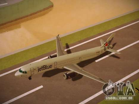 Airbus A321-232 jetBlue I love Blue York para GTA San Andreas interior
