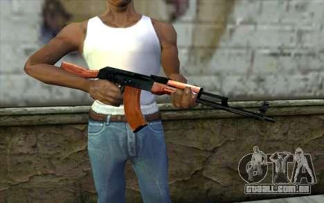 АКМ a partir de Meia - Vida Paranóia para GTA San Andreas terceira tela