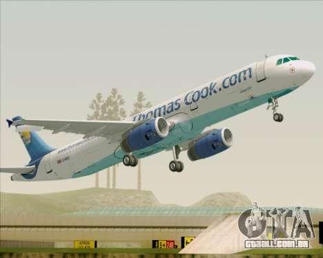 Airbus A321-200 Thomas Cook Airlines para as rodas de GTA San Andreas