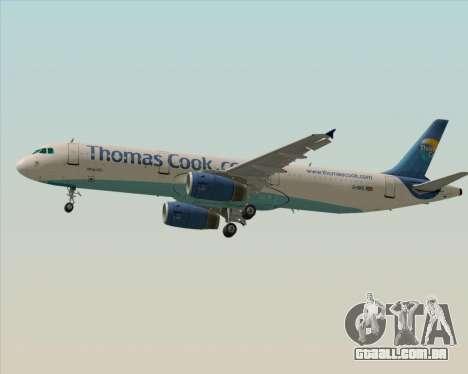 Airbus A321-200 Thomas Cook Airlines para GTA San Andreas traseira esquerda vista