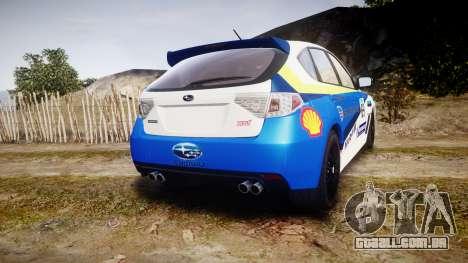 Subaru Impreza Cosworth STI CS400 2010 Custom para GTA 4 traseira esquerda vista