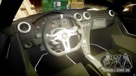 Gumpert Apollo S 2011 para GTA 4 vista interior