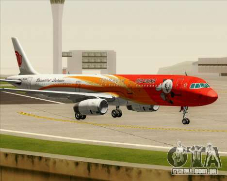 Airbus A321-200 Air China (Beautiful Sichuan) para GTA San Andreas vista interior