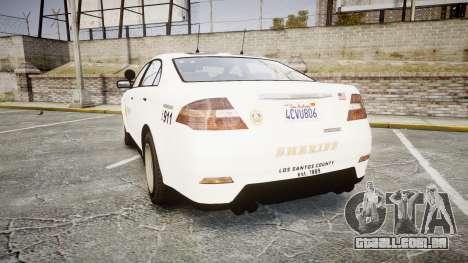 GTA V Vapid Interceptor LSS White [ELS] Slicktop para GTA 4 traseira esquerda vista