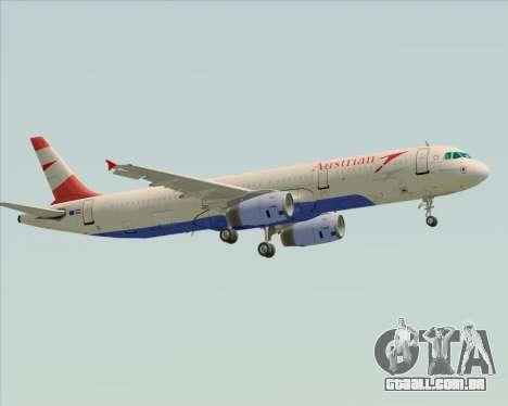 Airbus A321-200 Austrian Airlines para GTA San Andreas vista direita