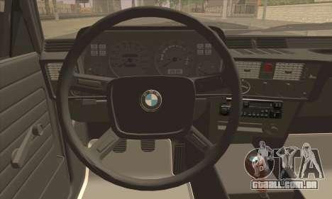 BMW 3 Series (E21) para GTA San Andreas traseira esquerda vista