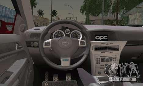 Opel Astra OPC para GTA San Andreas traseira esquerda vista
