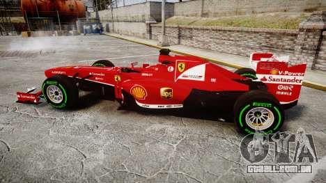 Ferrari F138 v2.0 [RIV] Alonso TIW para GTA 4 esquerda vista