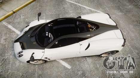 Pagani Huayra 2013 [RIV] Carbon para GTA 4 vista direita