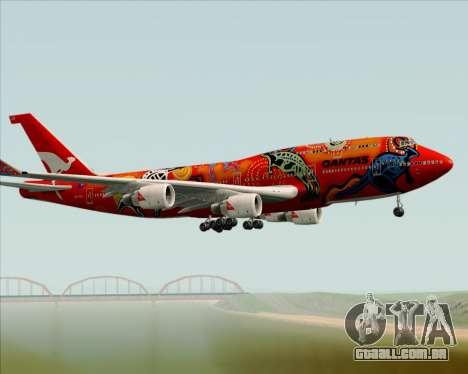 Boeing 747-400ER Qantas (Wunala Dreaming) para vista lateral GTA San Andreas