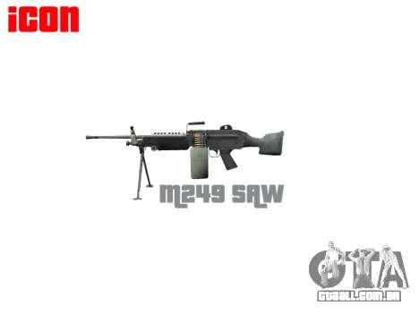 Luz metralhadora M249 SAW para GTA 4 terceira tela