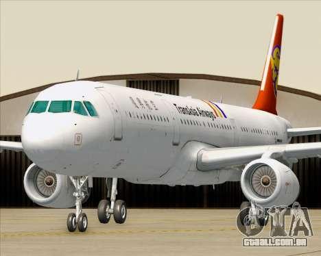Airbus A321-200 TransAsia Airways para as rodas de GTA San Andreas