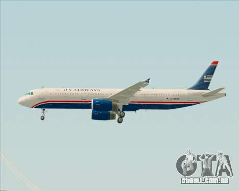 Airbus A321-200 US Airways para as rodas de GTA San Andreas