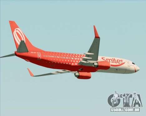 O Boeing 737-800 da Gol Transportes Aéreos para vista lateral GTA San Andreas