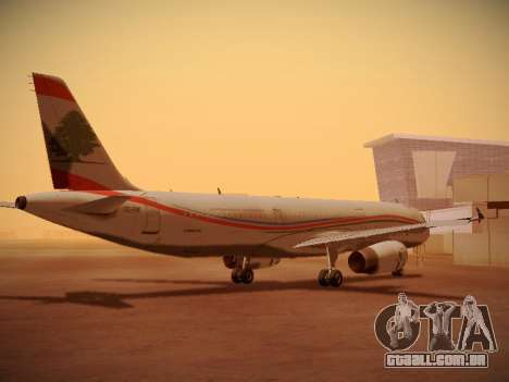 Airbus A321-232 Middle East Airlines para GTA San Andreas vista direita