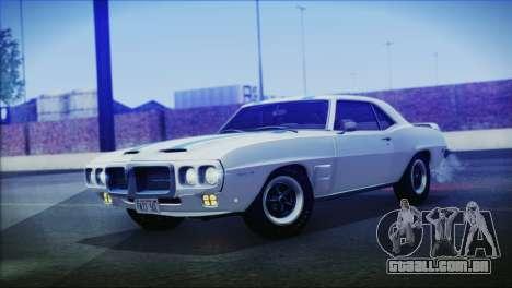 Pontiac Firebird Trans Am Coupe (2337) 1969 para GTA San Andreas traseira esquerda vista