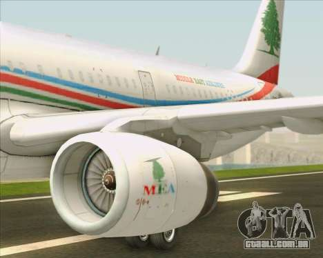 Airbus A321-200 Middle East Airlines (MEA) para o motor de GTA San Andreas
