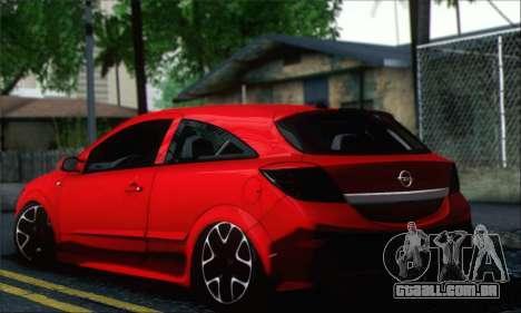 Opel Astra OPC para GTA San Andreas esquerda vista