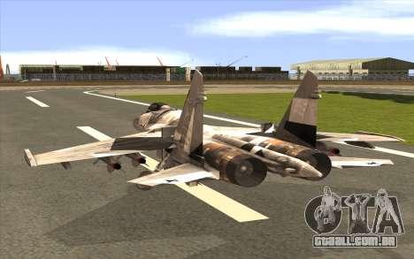 Sukhoi SU-35 BF3 para GTA San Andreas esquerda vista