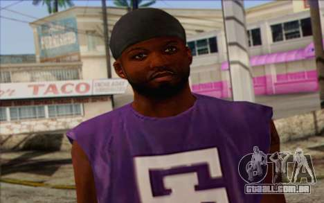 Ballas from GTA 5 Skin 1 para GTA San Andreas terceira tela