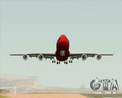 Boeing 747-400ER Qantas (Wunala Dreaming) para GTA San Andreas vista direita
