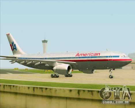 Airbus A300-600 American Airlines para GTA San Andreas vista interior