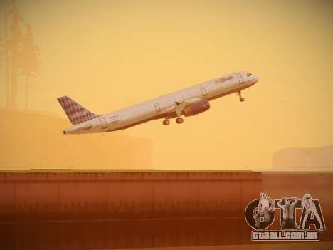 Airbus A321-232 jetBlue Airways para GTA San Andreas vista inferior